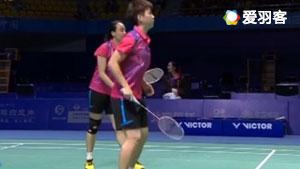 李茵晖/赵芸蕾VS成淑/孙晓黎 2017全运会羽毛球 女团决赛视频