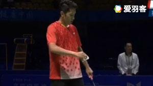 乔斌VS田厚威 2017全运会羽毛球 男团决赛视频