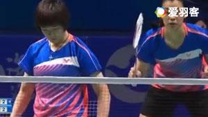 汤金华/何冰娇VS杜玥/李汶妹 2017全运会羽毛球 女团决赛视频