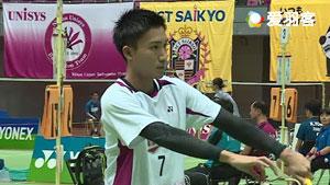 桃田贤斗VS宫本树希 2017日本社会人锦标赛 男单1/16决赛视频
