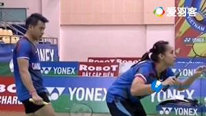 艾菲/奧克塔維亞尼VS維迪安托/瑪西塔 2017越南公開賽 混雙決賽視頻