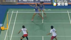 波莉/拉哈尤VS基蒂塔拉库尔/拉温达 2017韩国公开赛 女双1/16决赛视频