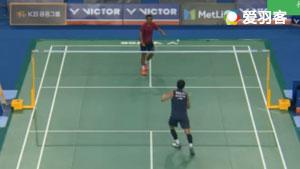 黄永棋VS苏吉亚托 2017韩国公开赛 男单1/16决赛视频