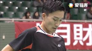 桃田贤斗VS古财和辉 2017日本全国锦标赛 男单1/8决赛视频