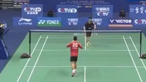 黄宇翔VS赵俊鹏 2017中国羽超联赛 男单小组赛视频