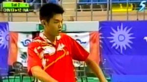 陶菲克VS林丹 2002亚运会 男团半决赛视频