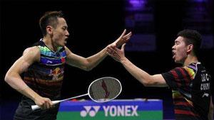 刘成/张楠VS李哲辉/李洋 2017世界羽联总决赛 男双小组赛视频