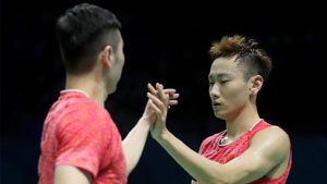 刘成/张楠VS保木卓朗/小林优吾 2017世界羽联总决赛 男双小组赛视频