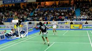 【低视角】2007法国公开赛,林丹VS陶菲克