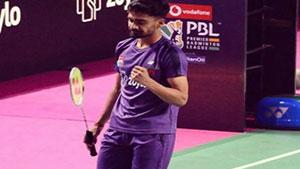 萨米尔VS黄永棋 2018印度超级联赛 混合团体小组赛视频
