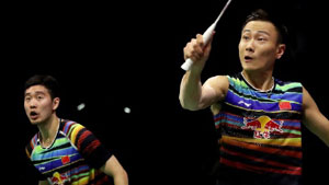 张楠/刘成VS刘隽程/徐家铭 2018马来西亚大师赛 男双1/16决赛视频