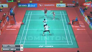 克里斯蒂安森/佩蒂森VS陆基/里琳·阿米莉亚 2018印尼大师赛 混双1/16决赛视频