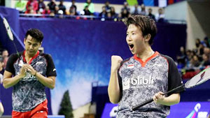 艾哈迈德/纳西尔VS张楠/刘玄炫 2018印尼大师赛 混双1/4决赛视频