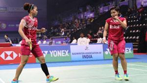 波莉/拉哈尤VS基蒂塔拉庫爾/拉溫達 2018印度公開賽 女雙決賽視頻