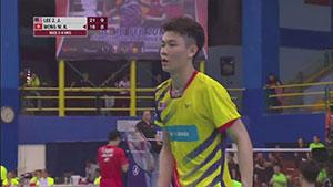 李梓嘉VS黄永棋 2018亚洲团体锦标赛 男团1/4决赛视频
