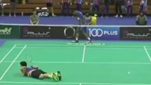 20:21李东根被判触网教练怒砸水瓶,印尼惊天大逆转!