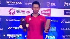 打破13个月冠军荒,林丹发文祝贺职业生涯第65冠