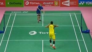 谌龙VS利弗德斯 2018汤姆斯杯 男团小组赛视频