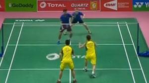 刘成/张楠VS吉奎尔/拉巴尔 2018汤姆斯杯 男团小组赛视频