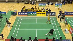 西本拳太VS坂井一將 2018全日本實業俱樂部錦標賽 男單決賽視頻