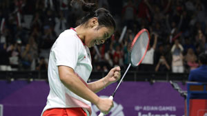 玛莉丝卡VS成池铉 2018亚运会 女团1/4决赛一分6合视频