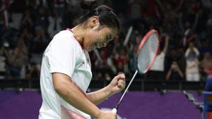 玛莉丝卡VS山口茜 2018亚运会 女团半决赛明仕亚洲官网