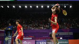 李俊慧/刘雨辰VS萨钦·迪亚斯/布万尼卡 2018亚运会 男双1/4决赛视频