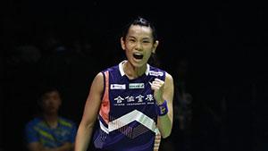 戴资颖VS内维尔 2018亚运会 女单半决赛一分6合视频