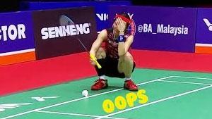 羽毛球10大离谱失误,看到最后一个我不厚道的笑了