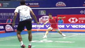 石宇奇VS苏吉亚托 2018中国公开赛 男单1/16决赛视频