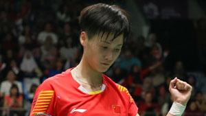陈雨菲VS成池铉 2018中国公开赛 女单1/8决赛一分6合视频
