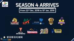 一文看懂2018中国、印度羽超联赛赛程安排