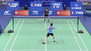 任朋嶓VS周泽奇 2018中国羽超联赛 混合团体小组赛视频