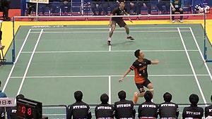 桃田贤斗VS坂井一将 2018日本羽毛球S/J联赛 男团小组赛视频