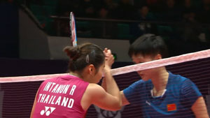2分钟看完小组赛首轮,因达农vs陈雨菲集锦