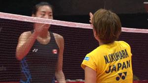 奥原希望VS李文珊 2018世界羽联总决赛 女单小组赛一分6合视频