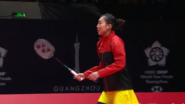 李文珊VS陈雨菲 2018世界羽联总决赛 女单小组赛视频