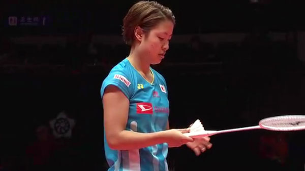 奥原希望VS因达农 2018世界羽联总决赛 女单小组赛一分6合视频