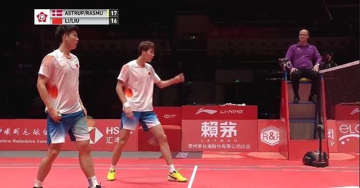 李俊慧/刘雨辰VS索伦森/安德斯 2018世界羽联总决赛 男单小组赛视频