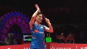 桃田贤斗VS孙完虎 2018世界羽联总决赛 男单半决赛视频