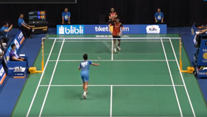 西萨VS金廷 2018印尼羽毛球联赛 男单小组赛视频