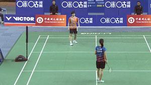 张艺曼VS何冰娇 2018中国羽超联赛 混合团体小组赛视频