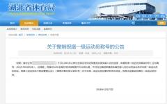 羽毛球一级运动员造假,武大某毕业生被撤销学位学历