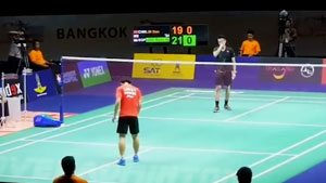 【场边视角】泰国男单决赛,林丹vs骆建佑