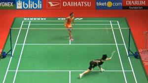 印尼大师赛女单决赛精彩集锦丨何冰娇VS内维尔