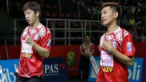 法加尔/李龙大VS阿格里皮纳/苏华迪 2019印尼羽毛球超级联赛 男团小组赛视频