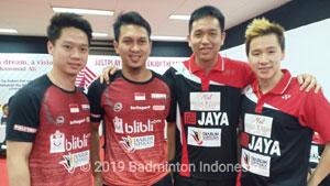 阿山/苏卡穆约VS塞蒂亚万/费尔纳迪 2019印尼羽毛球超级联赛 男团小组赛视频