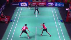 阿尤布/阿里夫VS李龙大/法加尔 2019印尼羽毛球超级联赛 男团小组赛视频