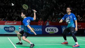 苏卡穆约/阿山VS阿格里皮纳/苏华迪 2019印尼羽毛球超级联赛 男团半决赛视频