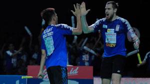 法加尔/伊万诺夫VS塞蒂亚万/费尔纳迪 2019印尼羽毛球超级联赛 男团半决赛视频